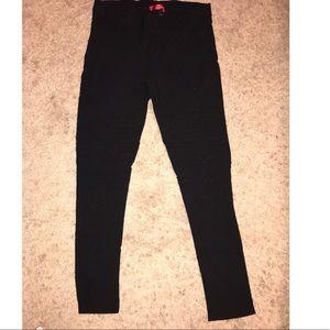 Denim - Black moto style leggings xl